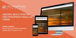قالب تک صفحهای وردپرس – Accesspress Parallax