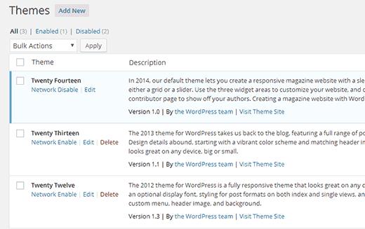 راه اندازی و تنظیم وردپرس چند سایته راه اندازی و تنظیم وردپرس چند سایته راه اندازی و تنظیم وردپرس چند سایته enable disable themes121