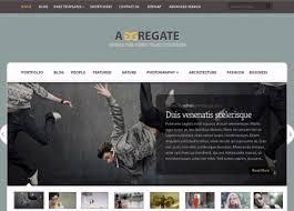قالب وردپرس شرکتی Aggregate