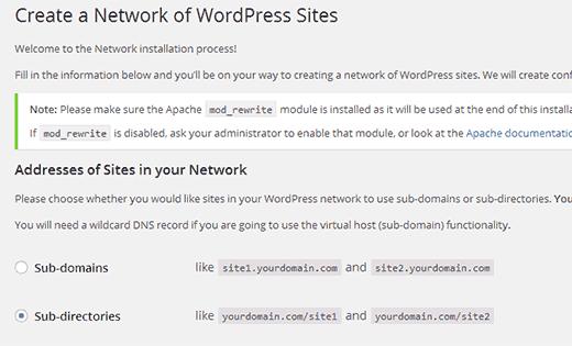 راه اندازی و تنظیم وردپرس چند سایته راه اندازی و تنظیم وردپرس چند سایته راه اندازی و تنظیم وردپرس چند سایته network setup