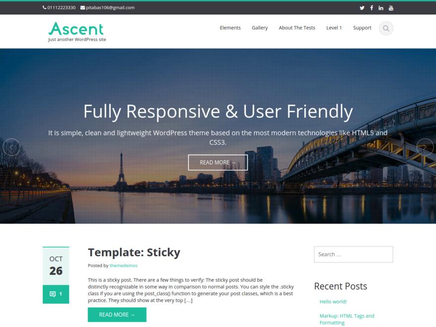 قالب خبری ascent قالب خبری Ascent قالب خبری ascent screenshot