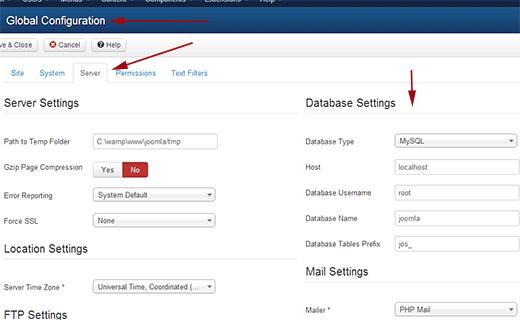 روش انتقال جوملا به وردپرس روش انتقال جوملا به وردپرس روش انتقال جوملا به وردپرس joomla db settings