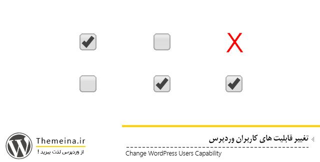تغییر قابلیت های کاربران وردپرس